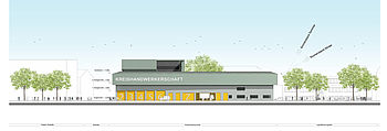 The architects of greeen! architects have created a design for the craftsmen's association in Mönchengladbach