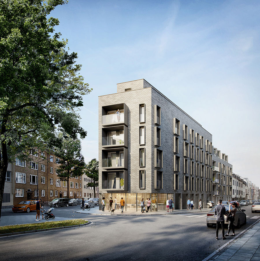 Micro apartments planned by Düsseldorf architecture firm greeen! architects at Beverstraße in Aachen