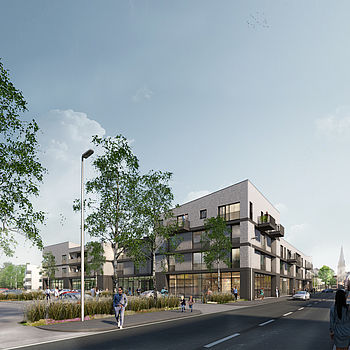 Design for the residential quarter Katharinenhöfe in Willich by the Düsseldorf architects greeen! architects