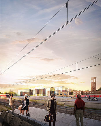 Three hotels at Düsseldorf main station planned by the Düsseldorf architects greeen! architects