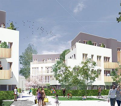 Design by the Düsseldorf architects greeen! architects for a district development in Bonn